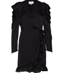 laura wrap dress kort klänning svart designers, remix