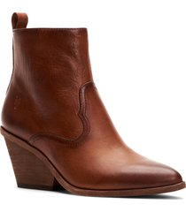 women's frye amado demi wedge bootie, size 7 m - brown