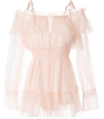 alice mccall crystal skies playsuit - pink