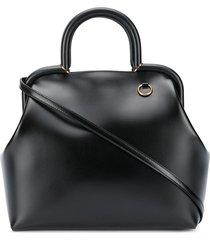 jil sander ring detail tote bag - black