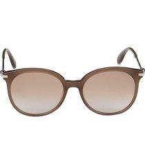 alexander mcqueen women's 54mm round sunglasses - brown