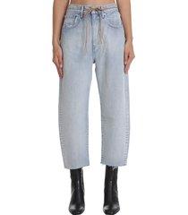 levis the barrel jeans in cyan denim