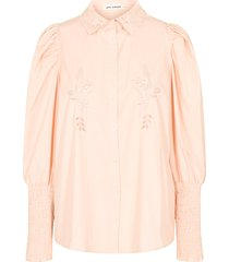 katoenen blouse met pofmouwen marie  roze