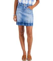 style & co petite denim tube skirt, created for macy's