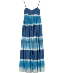 alberta ferretti cotton long dress