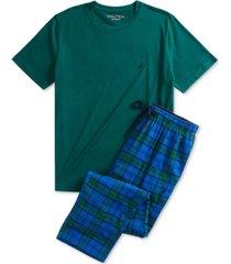 nautica men's t-shirt and flannel pants pajama set