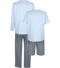 pyjamas babista 2 ljusblå/grå