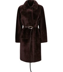 desa 1972 belt-tie mid-length coat