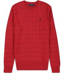 sweater chili pepper heather polo ralph lauren m/l c/redondo unicolor trenzado ppc