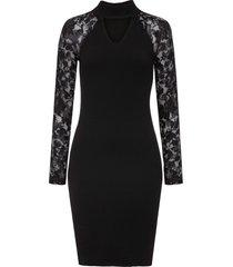 abito in maglia con pizzo (nero) - bodyflirt boutique