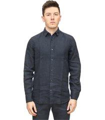 regular fit linen shirt