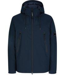 c.p. company blue stretch woven construction jacket