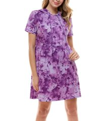 be bop juniors' hooded tie-dyed dress