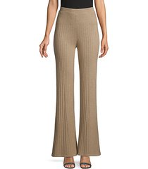 high-rise cotton-blend flared pants