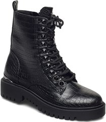 oxana/stivaletto /leat shoes boots ankle boots ankle boot - flat svart guess