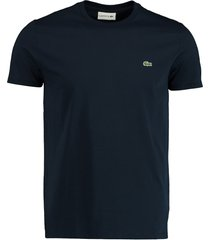 lacoste t-shirt donkerblauw ronde hals th6709/166