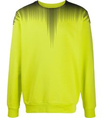 marcelo burlon county of milan fall wings crewneck sweatshirt - yellow