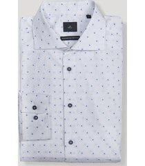 camisa formal blanco/azul trial
