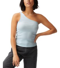 women's zinny one shoulder top