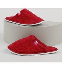 pantufa slipper de pelo infantil molekinha vermelha