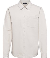 anf mens wovens skjorta casual creme abercrombie & fitch