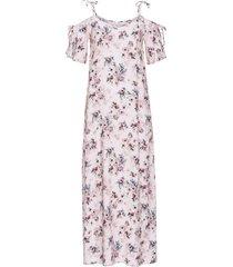 abito lungo con spalline da annodare (rosa) - rainbow