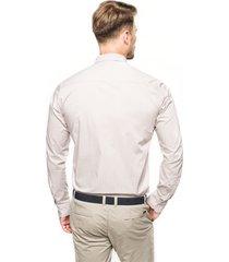 koszula versone 2754 długi rękaw custom fit beż