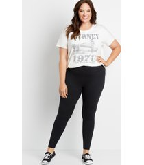 maurices plus size womens high rise black full length luxe leggings