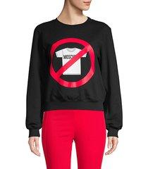 graphic stretch-cotton sweatshirt