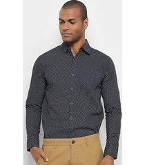 6c199206db Camisas - Masculino - Estampada - Marinho - 138 produtos com até ...