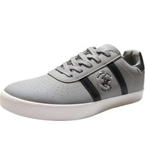 zapatos  beverly hills polo club gris