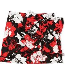 n.21 floral print mini skirt