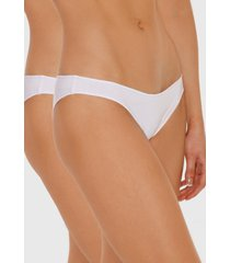 pack bikinis algodón lycra blanco baziani
