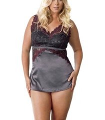 icollection women's support shelf bra, stretch lace and satin camisole