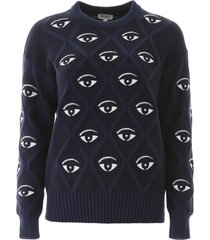 kenzo all over eye sweater