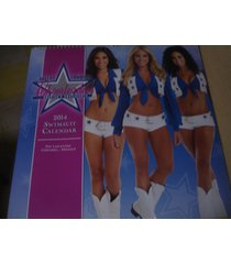 "dallas cowboys cheerleaders 2014 swimsuit wall calendar new 15"" x 15"" sealed"