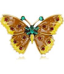 dolce farfalla spille strass colourful pittura a olio gioielli colthing spilla pin per donna uomo
