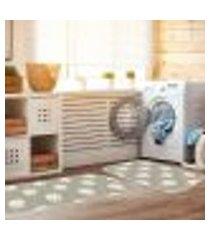 kit tapete lavanderia coelho fofinho único 40x80