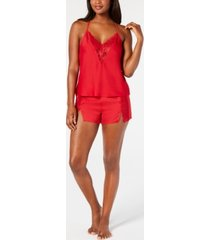 inc lace trim pajama camisole & shorts set, created for macy's