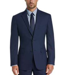 awearness kenneth cole blue check slim fit suit