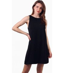 vestido bianca sin mangas negro jacinta tienda