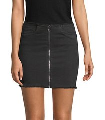zipper mini skirt