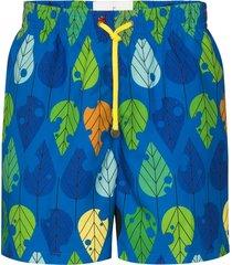 timo trunks x yune long prep autumn swim shorts - blue