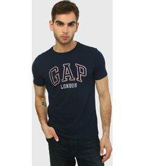 camiseta azul-rojo-blanco gap
