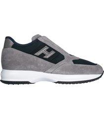 scarpe sneakers uomo camoscio interactive slip on