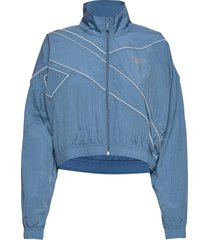 cl cropped fr tracktop zomerjas dunne jas blauw reebok classics