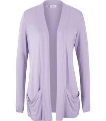 cardigan in maglina elasticizzata (viola) - bpc bonprix collection