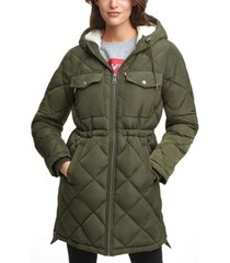 levi's hooded anorak puffer coat