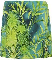 versace tropical print skirt