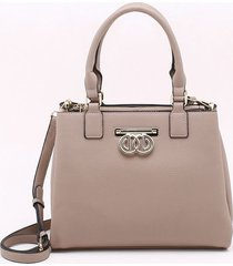 bolsa tote bege taupe - g